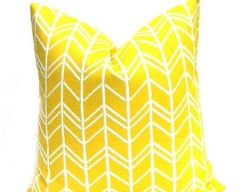 15% Off Sale Outdoor Pillow Outdoor Pillow Cover Yellow Pillow Yellow Throw  Pillow Accent Pillow