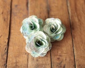 48 Pcs Small Maps Paper Roses for Weddings and Craft Projects