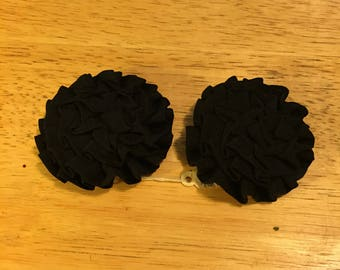 Round Black Musi Shoe Clips