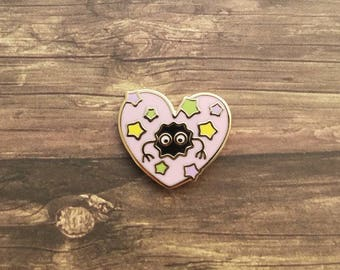 Soot Heart Pin // Pastel Pink // Hard Enamel Pin // Ghibli Fanart // Lapel Pin