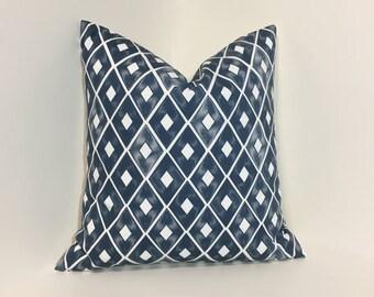 Navy pillow cover. Navy pillows. Navy and white home decor pillow cover, throw pillow
