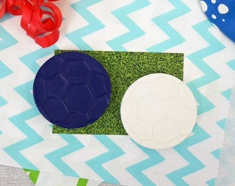 Football Party Favour - Party Bag filler - Goodie Bag - Wedding Favours - Made to Order - Handmade Crayons - Soccer Birthday Party