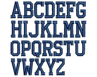 Athletic Embroidery Font - INSTANT DOWNLOAD