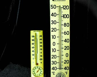 Vintage Thermometers - 2 Vintage Thermometers, Mid Century Thermometers,