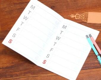 Weekly planner-stationary-a5-notebook, Diary, Calendar, Scrapbook