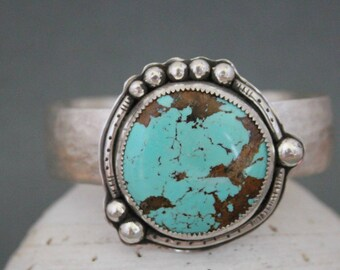 Turquoise Cuff Bracelet, Southwest Style Jewelry, Sterling Silver Cuff, Turquoise Jewelry, Boho Bracelet, Bohemian Jewelry