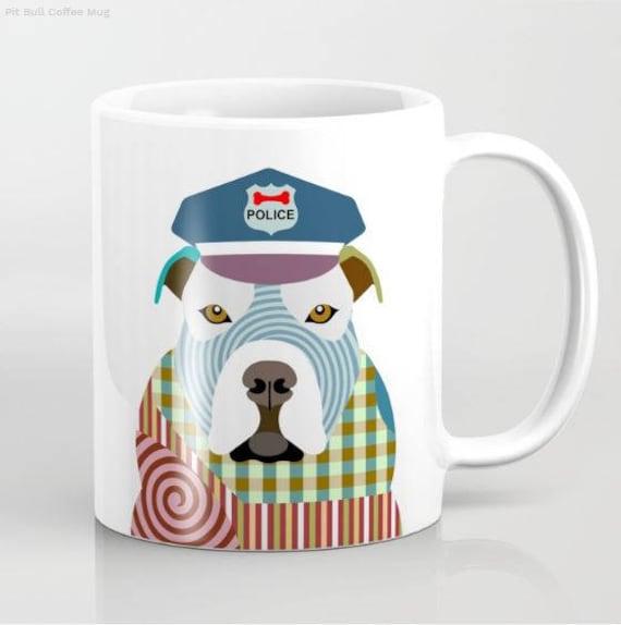 Pit Bull Mug, Pit Bull Gifts, Pit Bull Print, Pit Bull Lover Gift, Animal Mug, Pet Gifts, Pet Mug, Dog Lover Mug