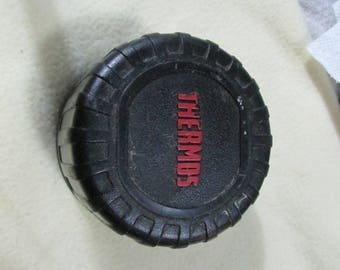 black thermos cap with  spout # 4