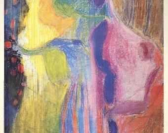 Franz Kupka-Woman Picking Flowers-1989 Poster