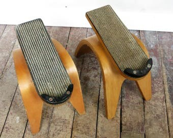 Pair of Vintage Thonet Bentwood Shoe Stands or Didplays
