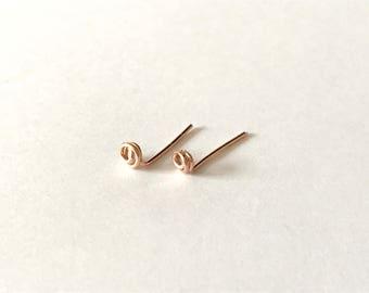 NEW Tiny rose studs - 14k rose gold fill earrings, minimalist earrings, simple everyday earrings, petite earrings, gift for her