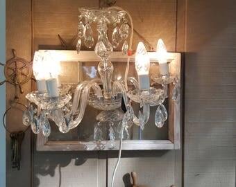 Vintage Crystal Chandelier 5 lights