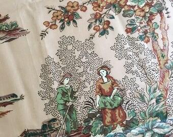 Vintage fabric glazed earthtone Cyrus Clark