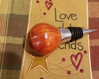 Handmade Padauk Wood Bottle Stopper