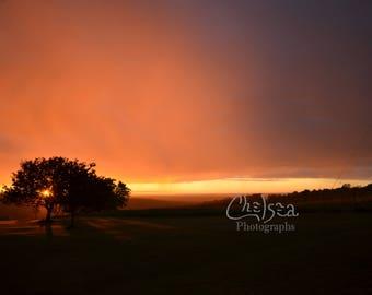 sunset - Nature photograph, landscape Wall Art