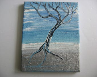 Steel - Original Acrylic Painting - Stretched Canvas - 10 x 8
