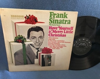 "Vintage, Frank Sinatra - ""Have Yourself A Merry Little Christmas"", Holiday Vinyl LP, Record Album, First Press, Traditional, Jingle Bells"