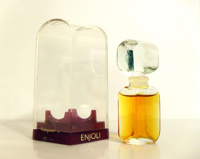 Vintage 1970s Enjoli by Charles of the Ritz 0.25 oz Pure Parfum Splash and Box PERFUME