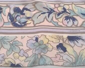 Vintage Liz Claiborne Scarves - Women's Soft Silk Floral Scarf Accessories 1980s