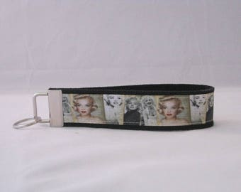 Keychain Wristlet Made With Marilyn Monroe Inspired Ribbon