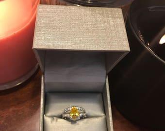 Citrine Promise Ring
