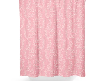 Pale Pink Shower Curtain.  Pink shower curtain Etsy