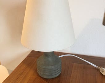 Mid century or hand made wooden desk lamp
