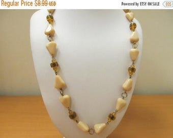 ON SALE Vintage Glass Beaded Necklace Item K # 2726
