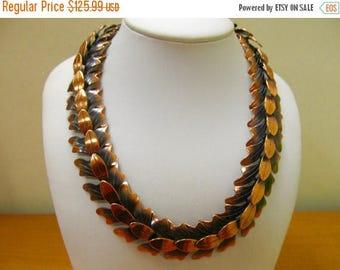 ON SALE REBAJES Copper Petal and Leaf Necklace Item K # 1719