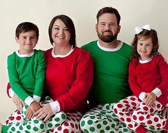 Personalized Christmas Pajamas, Family Matching Pajamas, Embroidered Pajamas, Holiday Pajamas