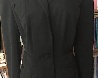 1940s Vintage LILLI ANN Suit Jacket CALIFORNIA Original Wool Gabardine Tailored Suit Jacket Movie Costume Vintage Suit Jacket Rare Lilli Ann