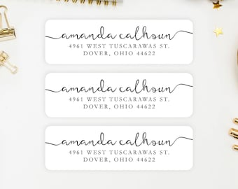 Address Labels / Personalized Return Address Labels / Custom Address Labels / Address Sticker / Address Label Sticker / The Amanda