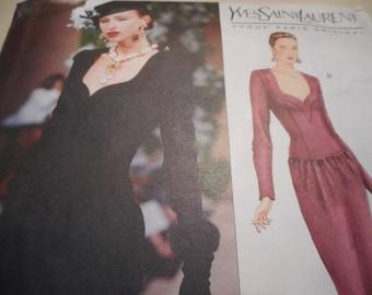 Vogue 2499 Paris Original Yves Saint Laurent Dress Sewing Pattern, Size 14-16-18