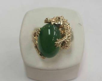 Jade Dragon Ring