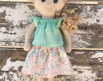 Ready to ship handmade doll