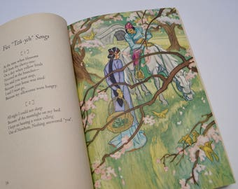 Translations from the Chinese by Arthur Waley, 1941, Chinese poetry translations, illustrations by Cyrus Le Roy Baldridge