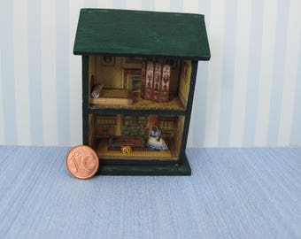 Dollhouse miniature dollhouse toy   Quarter Inch Scale Furniture OOAK diorama house Dollhouse toy house full equiped