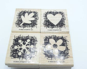Gently Used botanical themed Stamps, Made from Scratch, DESTASH, Stampin Up stamp set, Retired stamp set