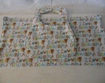 Baby Bib and Baby Burp Cloth, Baby Bib Set, Baby and Child Care Items, Burp Cloth Set, Baby Bib Set, I Love Grandma