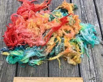 Dyed Bluefaced Leicester, BFL, Wool, Lamb Fleece, 3.75 Ounces, Spin, Felt, Lifeguard