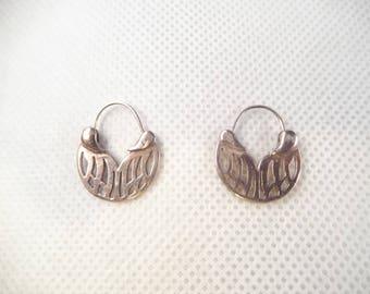 Sterling Pierced Earrings, Cut Out