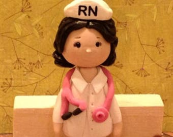Polymer clay Nurse ornaments,collector item,handmade,Christmas gifts,Christmas tree trimmings