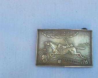 Rare Antique Buffalo Bill's Wild West Show 1887 Jubilee Belt Buckle