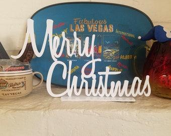 Merry Christmas sign, Holiday decor, Christmas sign,MCM,Mid Century, Vintage, X-mas