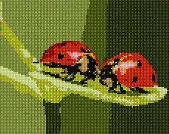 Needlepoint Kit or Canvas: Ladybugs