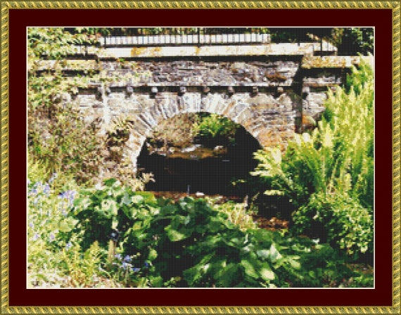 Rustic Bridge Cross Stitch Pattern /Digital PDF Files /Instant downloadable