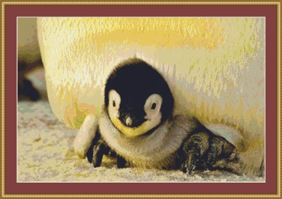 Baby Emperor Penguin Cross Stitch Pattern /Digital PDF Files /Instant downloadable