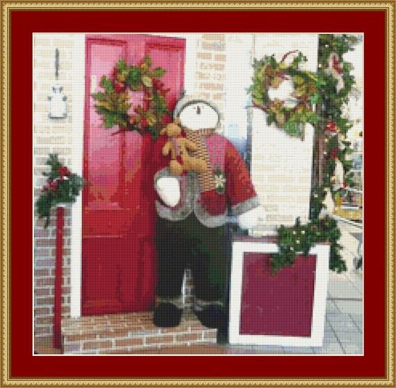 Christmas Shop Cross Stitch Pattern /Digital PDF Files /Instant downloadable