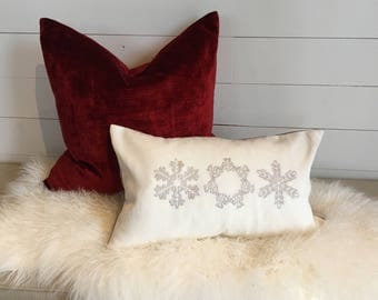 Snow Flakes Decorative Pillow Cover