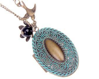 Necklace Locket swallow